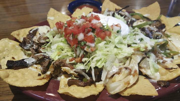 Beef fajiita nachos from Agaves Mexican Grill at Chapel Ridge.