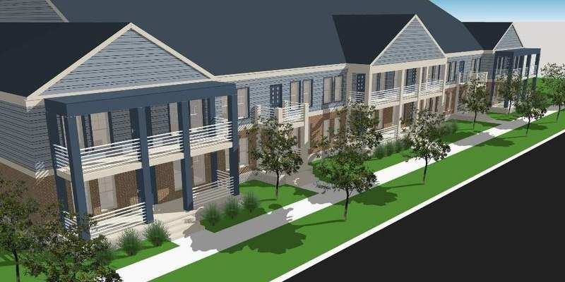 Courtesy of BWI Artist rendering of the planned Posterity Heights Scholar House.