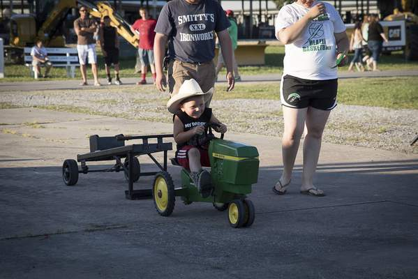 The Allen County Fair features a quieter tractor pull.