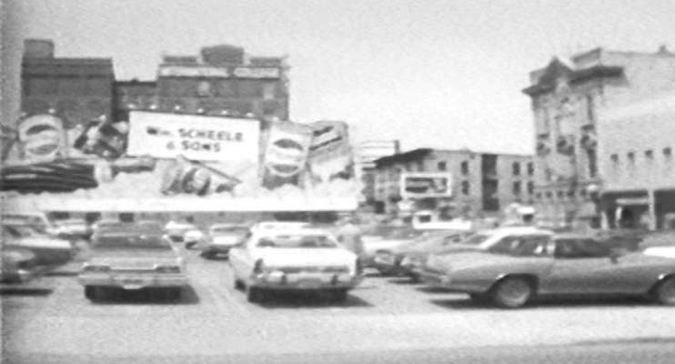Steven Fortriede | Public Access RIGHT: Buildings and streets on Harrison Street between Berry and Wayne streets look a lot different in this video screenshot from the 1970s, which was shot by Steven Fortriede for Public Access.
