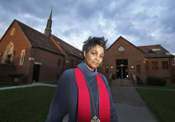 Chad Ryan | The Journal Gazette Pastor Karen Staton of Destiny Life Center Church is trying to raise enough money to put a new roof on the building, which may be left uninsured otherwise. But she is determined to keep serving her troubled south-side neighborhood.
