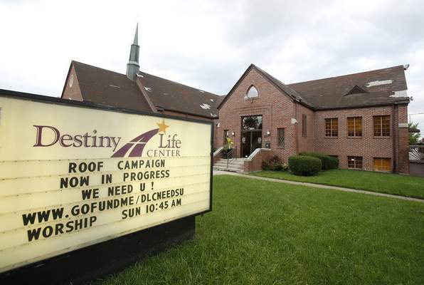 Chad Ryan | The Journal Gazette Destiny Life Center Church on Warsaw Street started as a Lutheran church is 1937 and has been owned by Pastor Karen Staton's parents since 2006. It is also the site of Victory House, a shelter for homeless women.