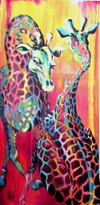 Courtesy Alexandra Hall Local artist Alexandra Hall will show colorful pieces in her Artlink show opening Friday.