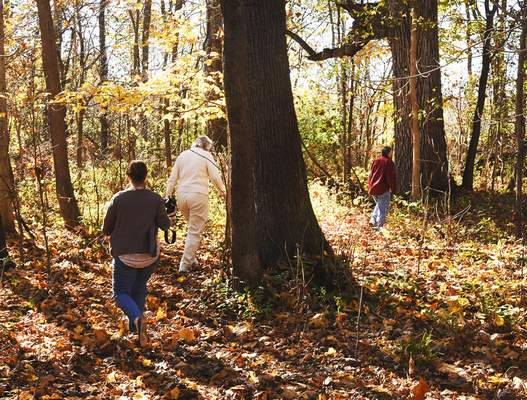 Photos by Cathie Rowand | The Journal Gazette ACRES Land Trust hosted a grand opening Friday of its 96-acre James P. Covell Nature Preserve, the local nonprofit's first public preserve in DeKalb County.