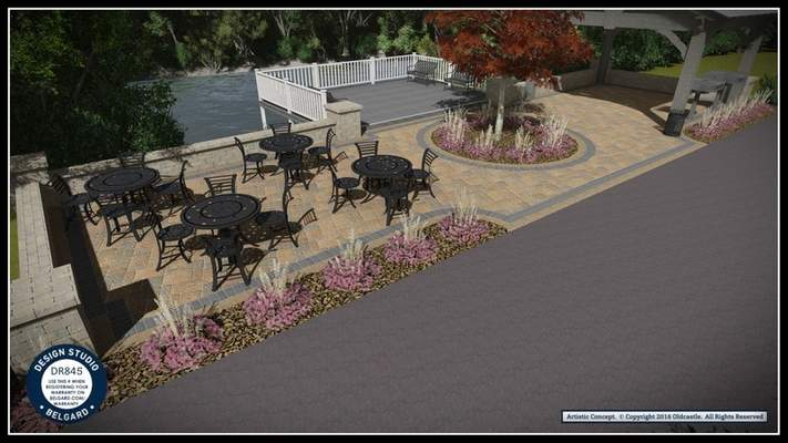 CourtesyWabash Marketplace Inc. The proposed Wabash Riverfront Plaza is shown in this artist rendering.