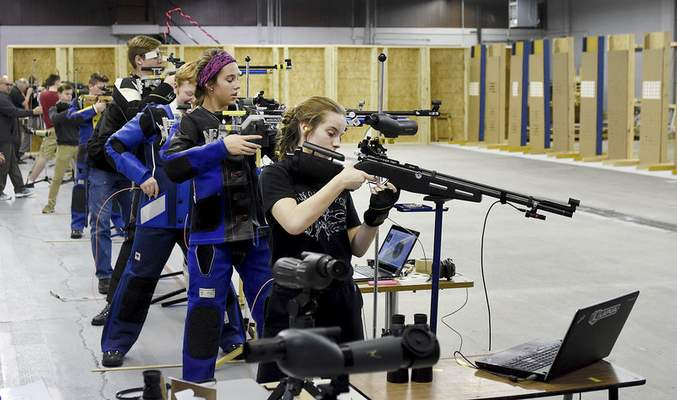 Photos by Samuel Hoffman | The Journal Gazette Students from area high schools get in some shooting practice at The X Count's rifle range.