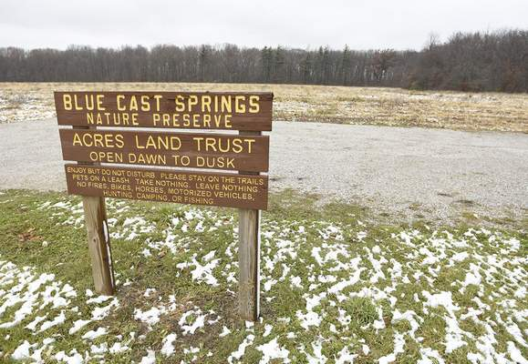 ACRES' acquisition of the 80-acre Blue Cast Springs Nature Preserve near Woodburn was facilitated by the Indiana Bicentennial Nature Trust.
