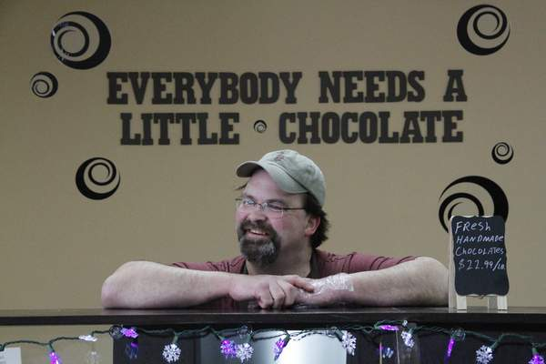 Chris Little opened Little Chocolates in Valparaiso with his wife, Tina, a decade ago to help bring in some extra money.