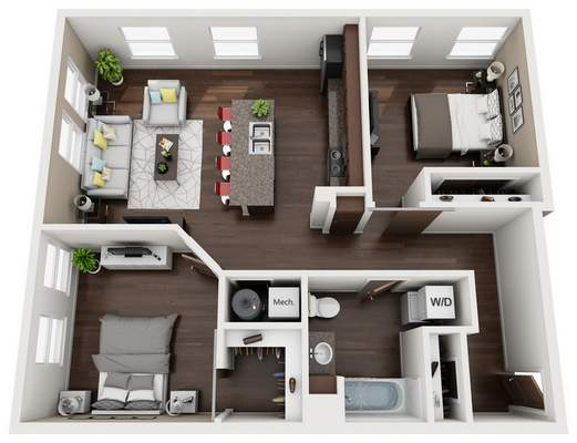 Sample floor plan for Superior Lofts