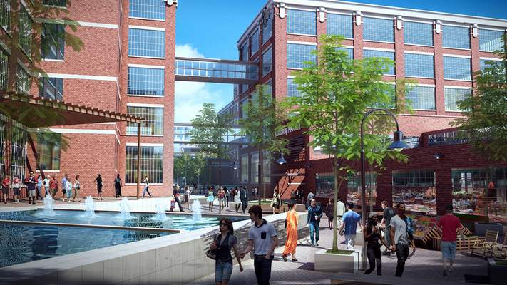 Courtesy of Greater Fort Wayne An artist's rendering shows what could be in store for the 31-acre GE campus following a $300 million project.