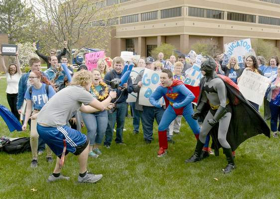 FILE  IPFW students celebrate the university's 50th anniversary.