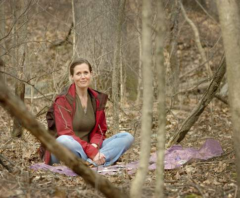Samuel Hoffman | The Journal Gazette Christy Thomson ends each of her nature hikes with a tea party, a part of her forest bathing enlightenment.