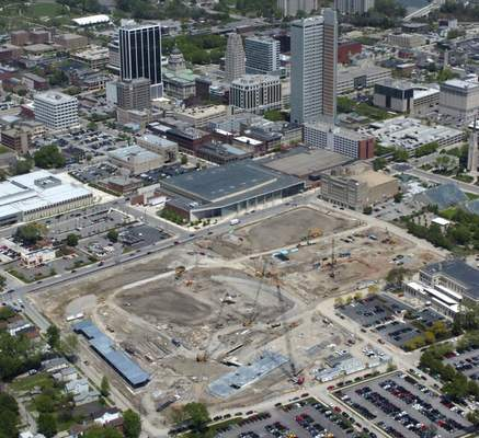 File Looking northeast at the Harrison Square project on May 13, 2008, where Parkview Field would take shape.