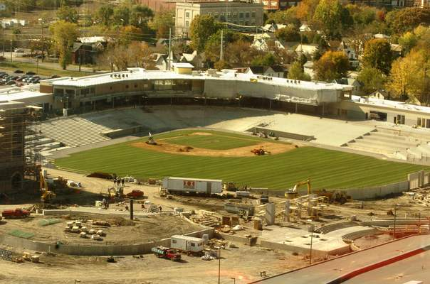 File A view of work being done on Parkview Field on Oct. 22, 2008.