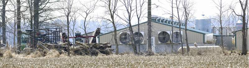 Michelle Davies | The Journal Gazette An animal-feeding farm in the 2000 block of North Roussey Road is accused of lacking proper permits.