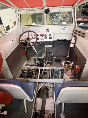 Samuel Hoffman   The Journal Gazette Work remains to be done in the cockpit of the duck boat. The name DUKW comes from GMC model nomenclature: D, designed in 1942; U, utility; K, all-wheel drive; W, dual rear axles.