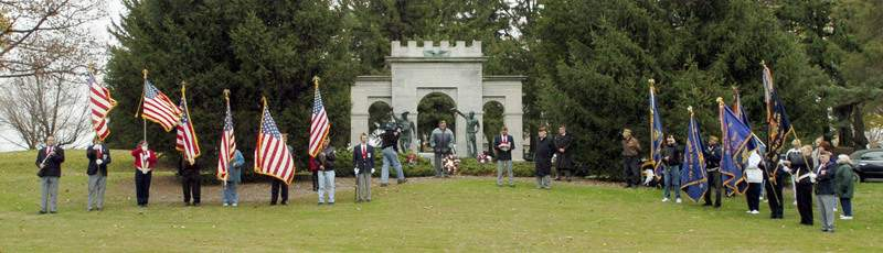 File A Veterans Day commemoration in Memorial Park. A proposal by Indiana Tech to expand its athletic fields into the park has become the focus of intense community debate.