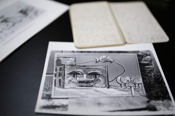 Kahn's blueprints and sketches will be a part of the museum's exhibit. Kahn worked 10 years to get approval from the Fine Arts Foundation committee.