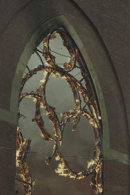 File Sept.2, 1993: Window frames burn in the St. Mary's Catholic Church fire.