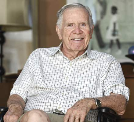 Michelle Davies   The Journal Gazette Ian Rolland, pictured last year, died Saturday at 84. Rolland was vital in many social and civic programs and development projects in the city.