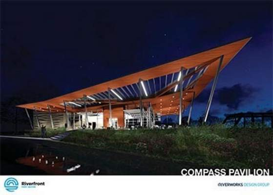 An architect's rendering shows a proposal for Compass Pavilion. (Courtesy Riverworks Design Group)