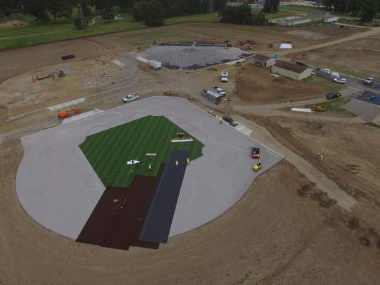 """Courtesy With the beginning of the installation of the artificial turf infield surfaces to the three new baseball fields on the ASH Centre campus, the World Baseball Academy's """"More Than A Game"""" project is coming closer to fruition."""