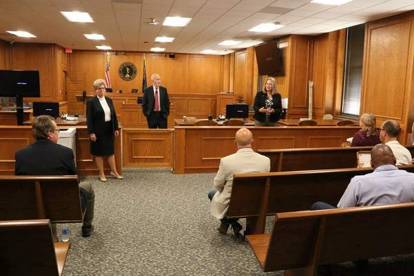 Courtesy Allen Superior Court formally unveiled its renovated Courtroom 107 last week during the Judicial Conference of Indiana fall meeting.
