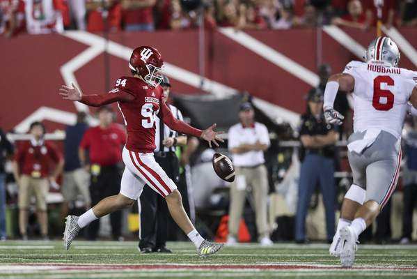Iu S Punter From Down Under Iu The Journal Gazette