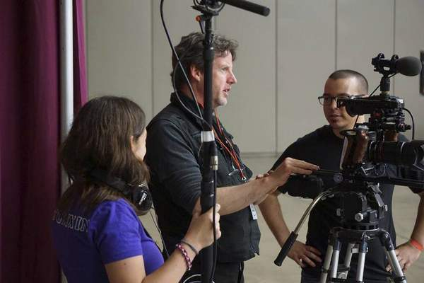 Courtesy  Brittnie Teeple, left, cinematographer Daniel Katter and director Joe Wood are part of the
