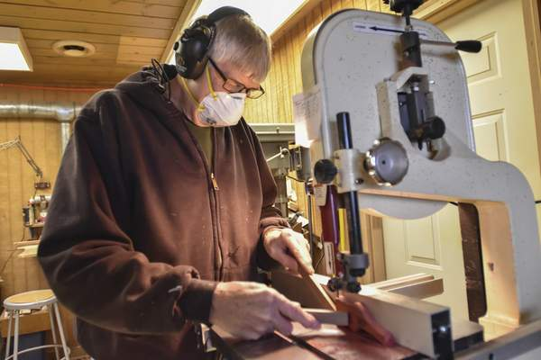 Nativity scenes are his specialty, but Krider carves a variety of pieces and has sold them full time for 20 years.