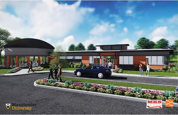 Courtesy Manchester University: This is an artist's rendering of the new Jean Childs Young Intercultural Center on Manchester University's North Manchester campus.