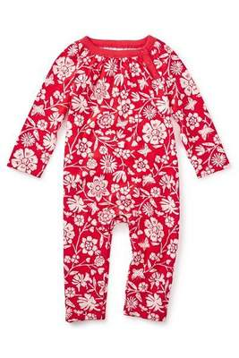 Vermillion painted OPP floral romper, style number 7F32500