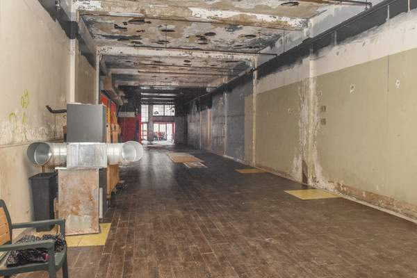 Michelle Davies   The Journal Gazette  The main floor of a building at 118 West Columbia Street, formerly Red Rok BBQ, will be used as a commercial space in the development of The Landing.