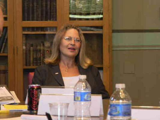 Gull 2016ARCHIVE photo Cutline - Allen Superior Judge Fran Gull interviews with the judicial nominating commission Tuesday for an open spot on the Indiana Supreme Court. Photo by Niki Kelly, The Journal Gazette.