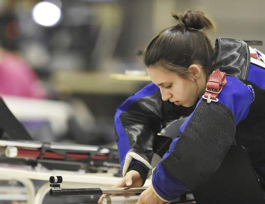Though only a freshman, Mackenzie Miller is a state champion shooter and has qualified for the Junior Olympics in the 10-meter air rifle event.