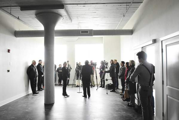 Officials and media toured Superior Lofts Wednesday for an update of the project.