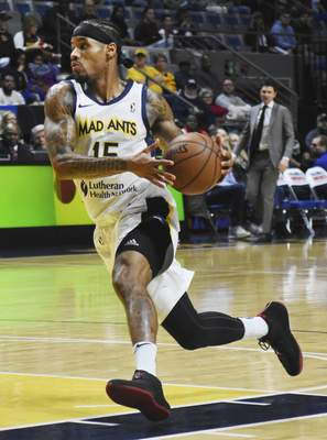 Rachel Von | The Journal Gazette The Mad Ants' Walt Lemon Jr. races down the court during the first period at the Memorial Coliseum on Tuesday.