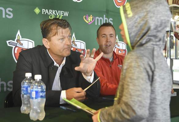 May 11, 2017:  Trevor Hoffman visits Fort Wayne  Trevor Hoffman will  be enshrined in the Baseball Hall of Fame this year. In 2017, he visited Parkview Field to sign autographs.