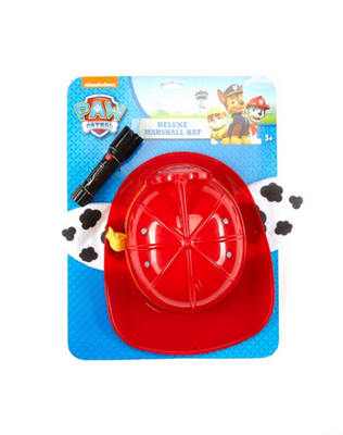 Packaging of Nickelodeon PAW PATROL Deluxe Marshall hat with flashlight.