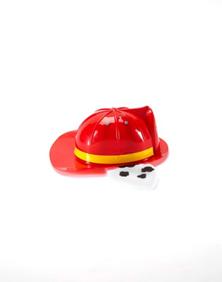 Nickelodeon PAW PATROL Deluxe Marshall Hat with flashlight (side view).