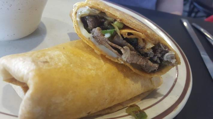 The Philly wrap at the new Sun Rise Cafe on Coliseum Blvd.
