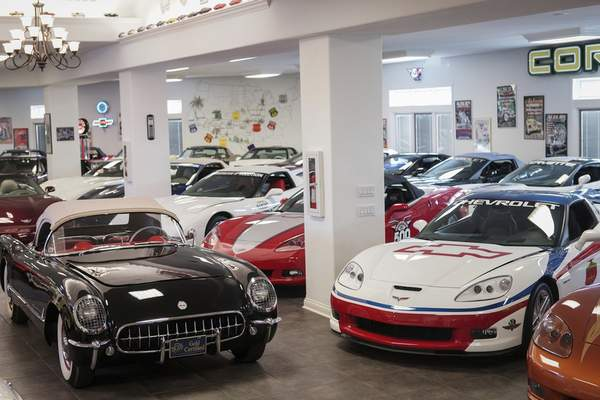 """One reason Busse says """"the real answer"""" to why he's selling his coveted collection of Corvettes is that he's running out of space to store them. (Photos by Mike Moore 