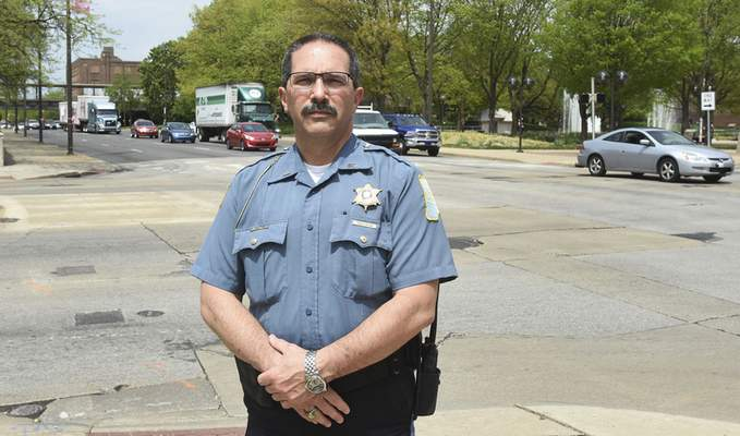 Rachel Von | The Journal Gazette  Lt. Tony  Maze, head of the Fort Wayne Police Department's traffic division, suspects there is more distracted driving in the city than reported.