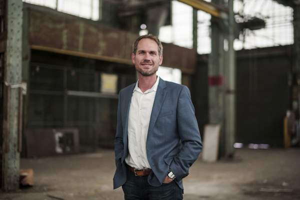 Mike Moore | The Journal Gazette Despite local reservations about Electric Works, developer Kevan Biggs is confident in it.