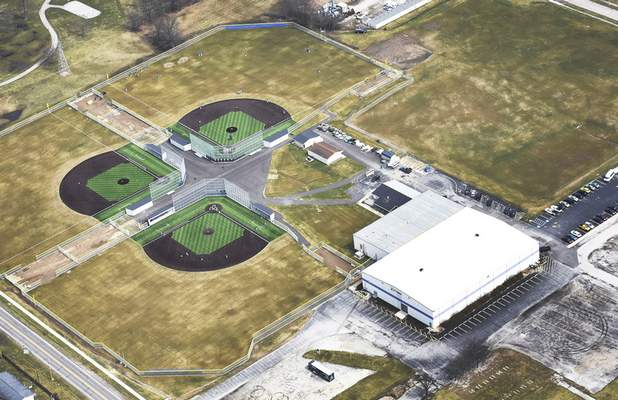 Cathie Rowand | The Journal Gazette The three World Baseball Academy fields were put in use by college teams starting in February and by high school teams starting in March.