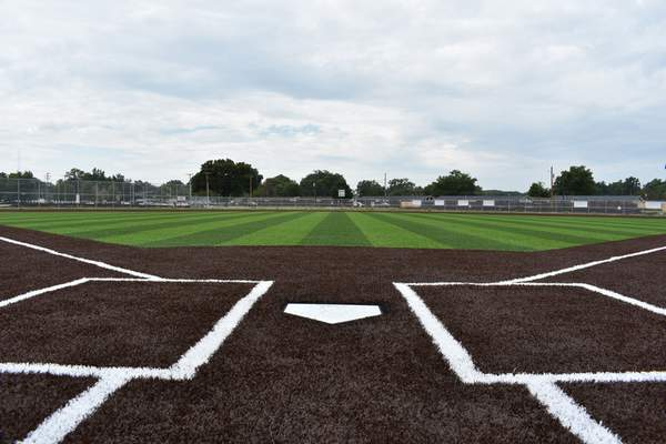Courtesy Phase I of the World Baseball Academy's exterior renovations include three high school- and college-sized baseball diamonds with artificial turf infields.