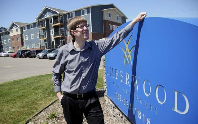 Associated Press  Mike Kaeding poses  at one of his company's apartment complexes in Blaine, Minn. Kaeding is the president of Norhart in Forest Lake, Minn.