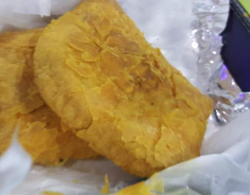 Jamaican patties from Ivy's Jerk Joint on South Clinton Street.