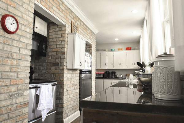 Photos by Michelle Davies | The Journal Gazette Among the updates made by previous owners is a modern kitchen, as well as renovating the bathroom and bedroom.