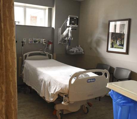 Michelle Davies   The Journal Gazette A bay in the observation area where tests can be run on patients requiring less than a 23 hour stay and don't need to be admitted to Lutheran Hospital.